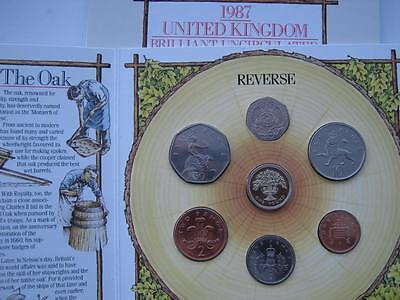 1987 Royal Mint B UNC coin colection year set.
