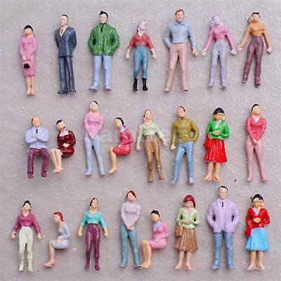 100 Painted FIGURES 1:50 Model Train Building People O