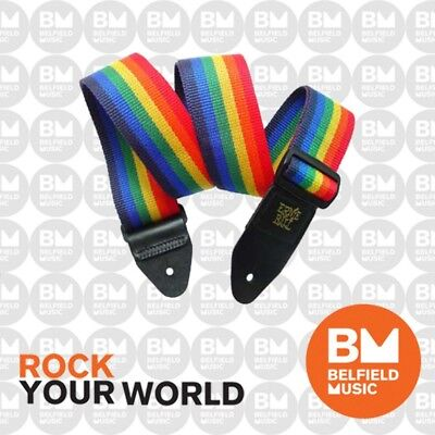 Ernie Ball 4044 Polypro Guitar Strap Super Long Rainbow Adjustable
