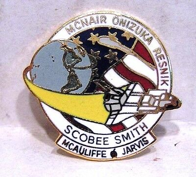 1986 Space Shuttle STS-51L Lapel Cloisonne Pin- Challenger-FREE S&H (NSPI-01-MF)