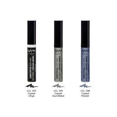 """3 NYX Liquid Crystal Glitter Liner - Face & Body """"Pick Your 3 Color""""  *Joy's*"""