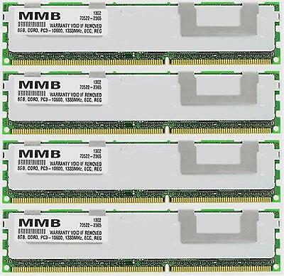 32Gb (4X8Gb) Ddr3 Pc3-10600 Ecc Reg 240-Pin 1333Mhz ***For Servers***