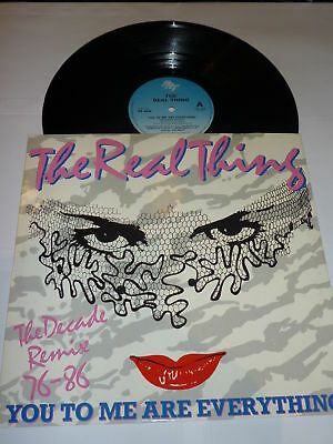 "THE REAL THING - You To Me Are Everything - 1986 UK 12"" Vinyl Single"