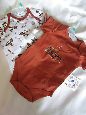 Houston Astros MLB Baseball Baby One Piece Bodysuit Creeper Socks Lot 3-6 months