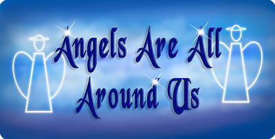 Angels Are All Around Us Decal Bumper Sticker