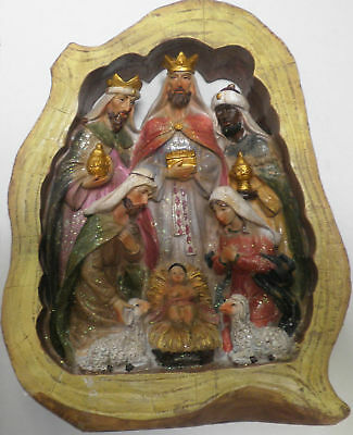 "CHRISTMAS NATIVITY SCENE (STANDS 8 1/2"" X 10 1/2"") NEW"