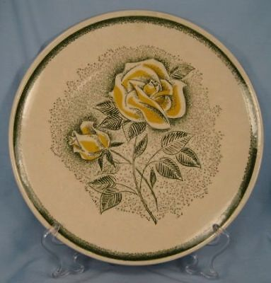 Nice Yellow Roses Dinner Plate Mt Clemens China Retro Vintage 1950s (O)
