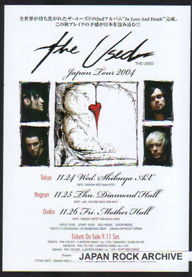 2004 The Used Japan Concert Tour Flyer / Handbill