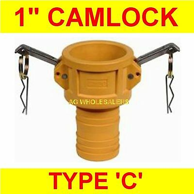 "Camlock Nylon Type C 1"" Cam Lock Irrigation Fitting"