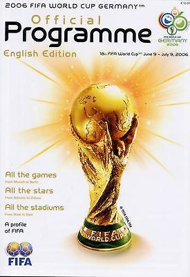World Cup 2006 Group Stage Mint Programme