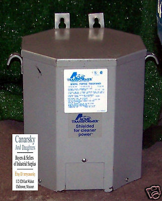 1 Used Acme T-2-53515-3S 7.5 Kva Single Phase Transformer ***make Offer***