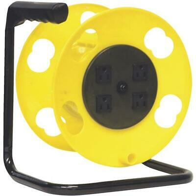 4-Plug Extension Cord Reel With Circuit Breaker