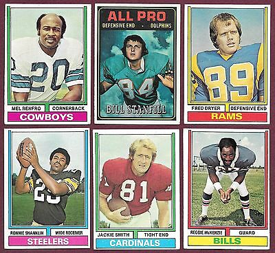 1971 1972 1974 1975 1978 Topps Football 5/$1.00 You Pick VGEX