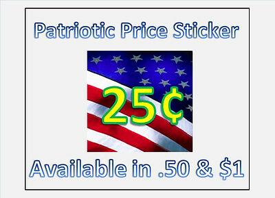 10 US Flag Vending Labels Price Stickers Candy Gumball