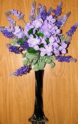 Lavender Silk Flowers Vase Arrangement Celebration Party Receptions Birthday
