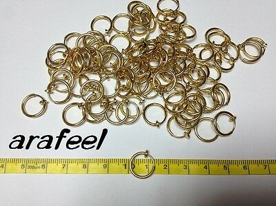 Fake Clip On Earring Nose Lips Ring Spring gold 1.3cm Korea Accessory Arafeel