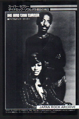 1974 IKE & TINA TURNER JAPAN mag PHOTO PINUP