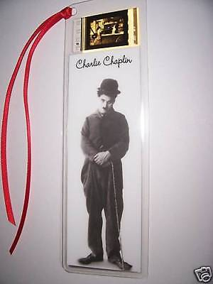 CHARLIE CHAPLIN CLASSIC Movie Film Cell Bookmark Rare!
