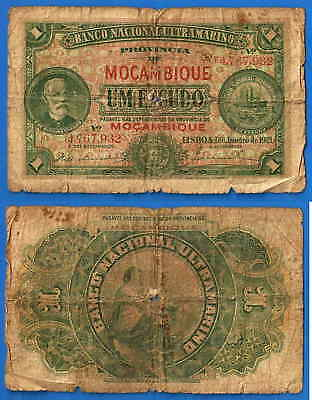 Mozambique 1 Escudo 1921 Escudos Portugal Afrique Low Shipping Paypal