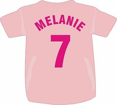Personalised Printed Child's Children's Name & Number T Shirt Team Club Girl Boy