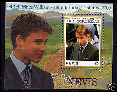 Nevis 2000 Prince Williams 18th B/day  MS SG1489 MNH