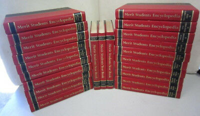 MERIT ENCYCLOPEDIA SET OF 20 Books + 3 x Year Book