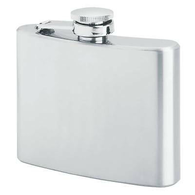 MAXAM 4oz STAINLESS STEEL HIP FLASK WITH SCREW DOWN CAP