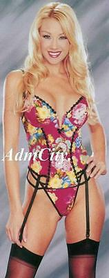 Beautiful Floral Cotton Lycra Underwired Bustier Thong