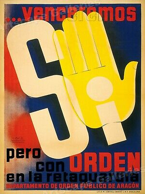 Yes, We Will Win! 1930s Spanish Civil War Poster - 24x32