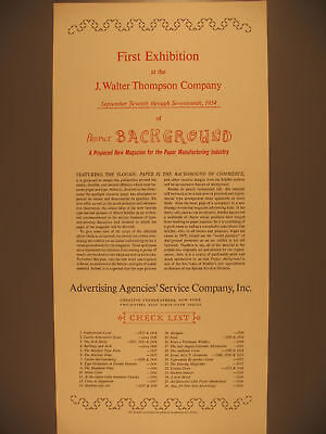Poster Promoting a New Paper Publication, 1954
