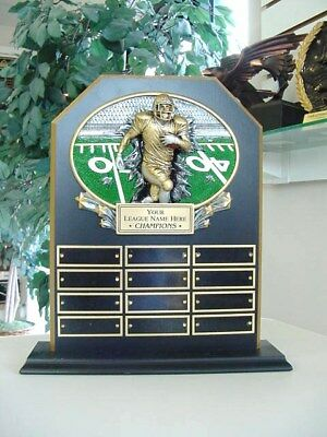 Fantasy Football Perpetual 12 Year Award Plaque Trophy