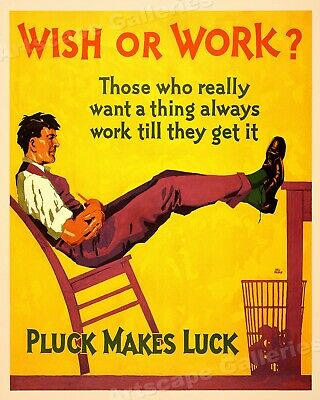 20x24 The Perfect Finish 1929 Workplace Motivational Poster