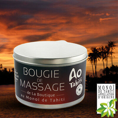 MINI BOUGIE DE MASSAGE  35g AU VERITABLE MONOI DE TAHITI - MASSAGE CHAUD -