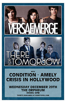 VersaEmerge There For Tomorrow ORIGINAL CONCERT POSTER DNR