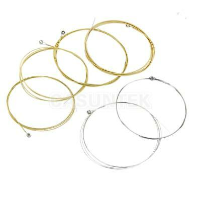Set of 6 Steel Strings Durable Steel for Acoustic Guitar 150XL 1M New