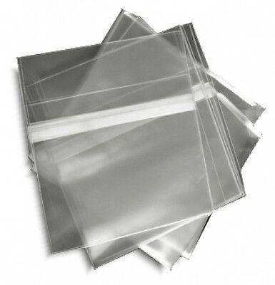 100-Pak =RESEALABLE= Plastic Wrap =SLIM= CD Sleeves, for 5.2mm Jewel Cases!
