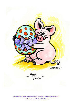Limited Edition Piggin Print-Happy Easter-Signed