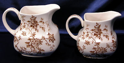 ALFRED MEAKIN ROSA PITCHERS (2) LARGE & SMALL * FREE SHIPPING USA *