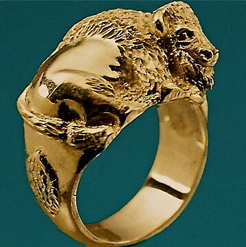 14Kt Gold Buffalo Ring! You can get it only from Sigi!