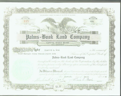 Palms - Book Land Co 1942 Share Signed Herbert & Frank