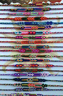 2 x Bright Colourful Wool Friendship Bracelet *Random Selection*