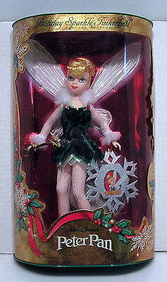1999 Holiday Sparkle Tinkerbell/Peter Pan Doll- MIB