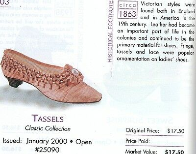 Just The Right Shoe, TASSELS Retired 10-31-01