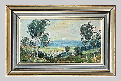Original Impressionist Oil Painting On Board By F. Maly
