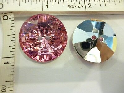 SILVER PLATED  17 1//2MM BUTTON COVERS WITH LT TOPAZ STONE-M251 6