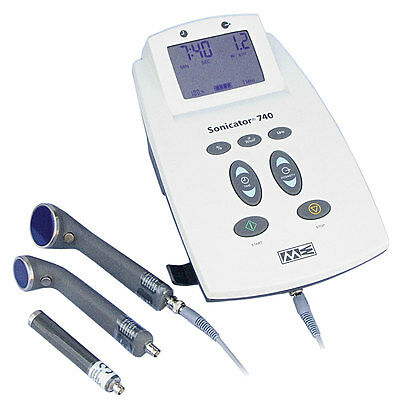 Mettler ME 740x Sonicator Ultrasound Therapy Unit w/3 x Applicators, (1-5-10cm)