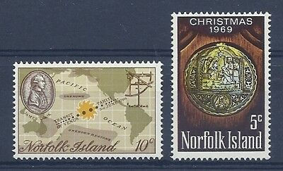 Norfolk Is 1969 Captain Cook + Christmas