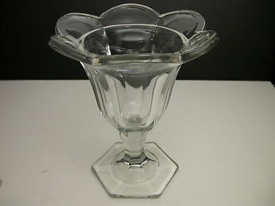 "Jefferson Chippendale Flower Holder Clear EAPG 8 1/4"" T"