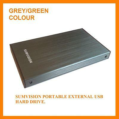 "Sumvision 250GB External Portable 2.5"" USB Hard Drive"