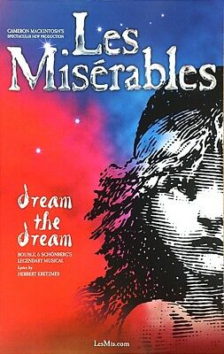 Les Miserables National Touring Company Window Card